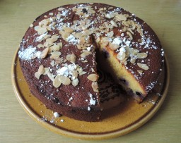Orange, blueberry and almond cake