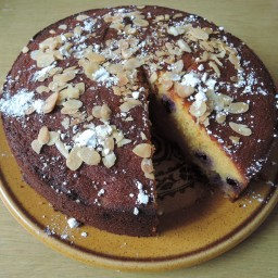 Orange, blueberry and almond cake