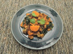 Sweet potato and chickpea coconut curry